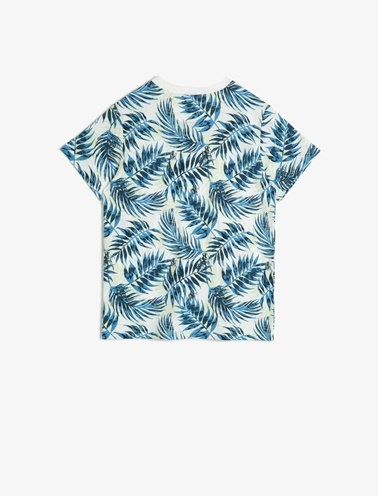 Koton Kids Desenli T-Shirt Mavi